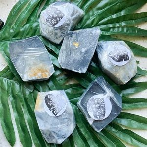 Grey marble soap samples